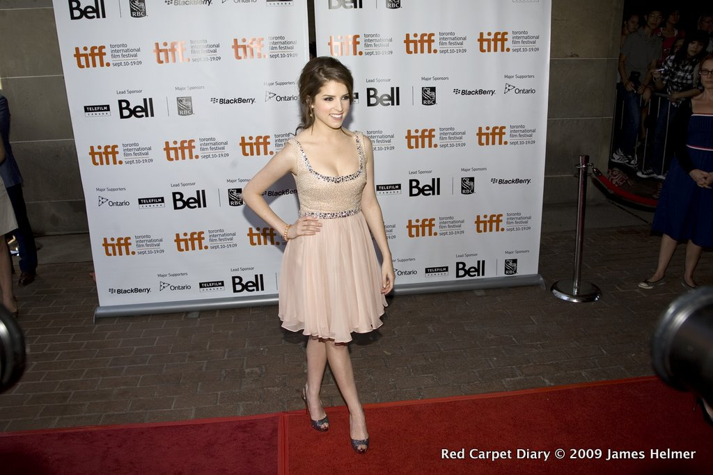 Anna Kendrick on the red carpet at the Ryerson Theatre for the screening of Up in the Air, Sept 13, 2009, during the Toronto International Film Festival.