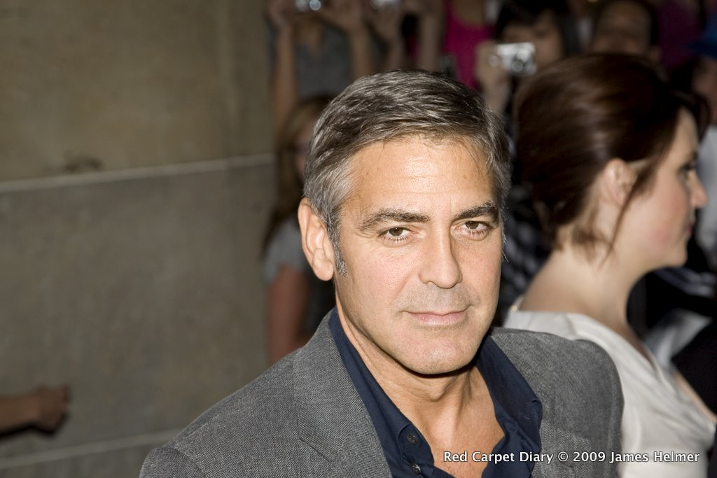 George Clooney on the red carpet at the Ryerson Theatre for the screening of Up in the Air, Sept 13, 2009, during the Toronto International Film Festival.
